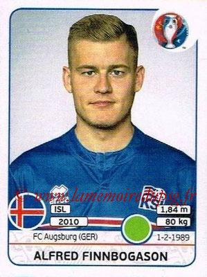 Panini Euro 2016 Stickers - N° 626 - Alfred FINNBOGASON (Islande)