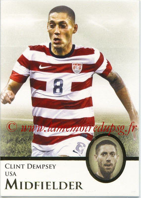 2013 - Futera World Football Unique - N° 035 - Clint DEMPSEY (Etats-Unis) (Midfielder)