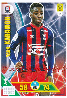 2017-18 - Panini Adrenalyn XL Ligue 1 - N° 063 - Yann KARAMOH (Caen)