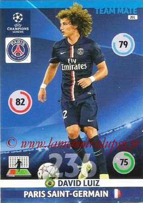 2014-15 - Adrenalyn XL champions League N° 201 - David LUIZ (Paris Saint-Germain)