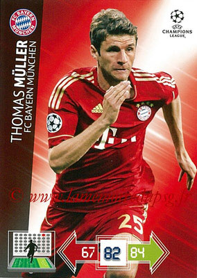 2012-13 - Adrenalyn XL champions League N° 057 - Thomas MÜLLER (FC Bayern Munich)