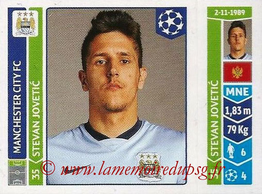 2014-15 - Panini Champions League N° 380 - Stevan JOVETIC (Manchester City FC)