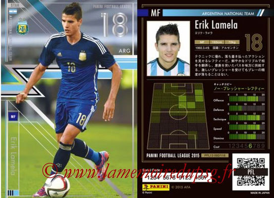 Panini Football League 2015 - PFL13 - N° 092 - Erik LAMELA (Argentine) (Star)