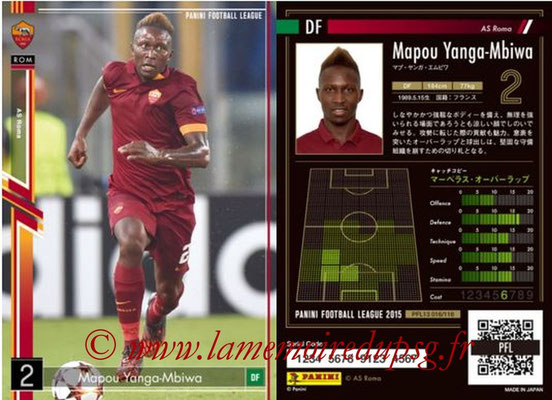 Panini Football League 2015 - PFL13 - N° 016 - Mapou YANGA-MBIWA (AS Roma)