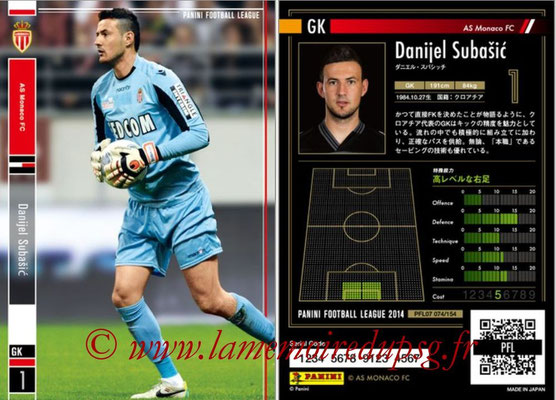 Panini Football League 2014 - PFL07 - N° 074 - Danijel SUBASIC (AS Monaco)