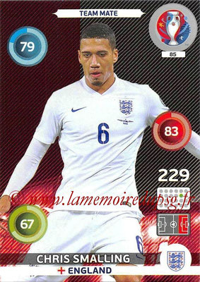 Panini Euro 2016 Cards - N° 085 - Chris MATE (Angleterre)