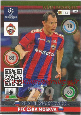 2014-15 - Adrenalyn XL champions League N° 265 - Sergei IGNASHEVICH (PFC CSKA Moskva) ( Fans' Favourite)