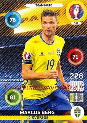 Panini Euro 2016 Cards - N° 381 - Marcus BERG (Suède)