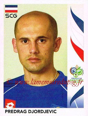 2006 - Panini FIFA World Cup Germany Stickers - N° 215 - Predrag DJORDJEVIC (Serbie)