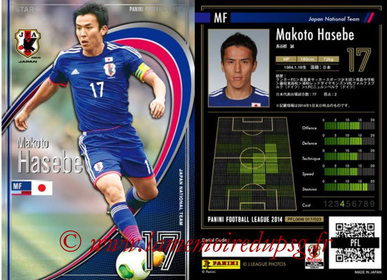 Panini Football League 2014 - PFL06W - N° 017 - Makoto HASEBE (Japon) (Star +)