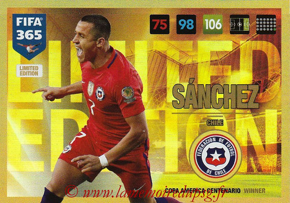 2016-17 - Panini Adrenalyn XL FIFA 365 - N° LE60 - Alexis SANCHEZ (Chili) (Limited Edition)