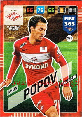 2017-18 - Panini FIFA 365 Cards - N° 331 - Ivelin POPOV (Spartak Moscou)