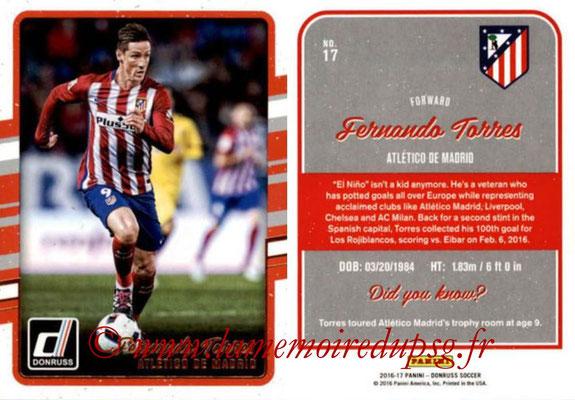 2016 - Panini Donruss Cards - N° 017 - Fernando TORRES (Atlético de Madrid)
