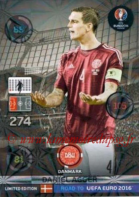 Panini Road to Euro 2016 Cards - N° LE-DA - Daniel AGGER (Danemark) (Limited Edition)
