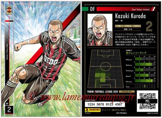 Panini Football League 2014 - PFL04E - N° 007 - Kazuki Kuroda (East Tokyo United)