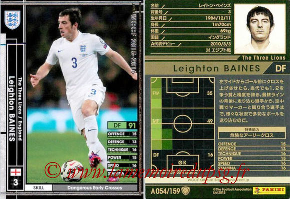 2015-16 - Panini WCCF - N° A054 - Leighton BAINES (Angleterre)