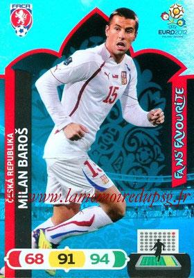Panini Euro 2012 Cards Adrenalyn XL - N° 242 - Milan BAROS (République Tchèque) (Fans' Favourite)