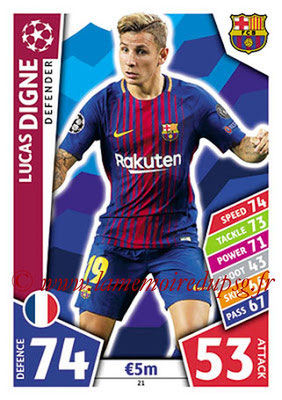 2017-18 - Topps UEFA Champions League Match Attax - N° 021 - Lucas DIGNE (FC Barcelone)