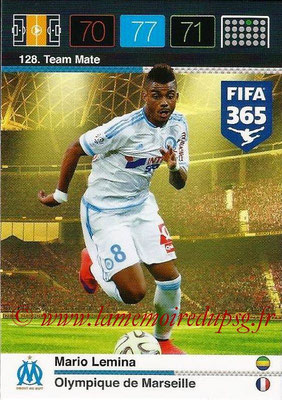 2015-16 - Panini Adrenalyn XL FIFA 365 - N° 128 - Mario LEMINA (Olympique de Marseille) (Team Mate)