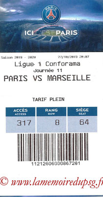 Tickets  PSG-Marseille  2019-20