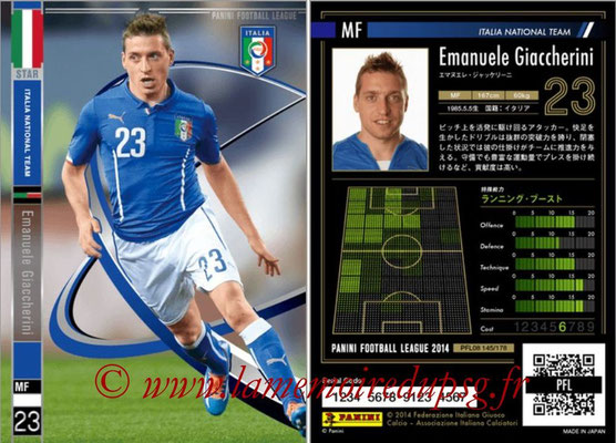 Panini Football League 2014 - PFL08 - N° 145 - Emanuele GIACCHERINI (Italie) (Star)