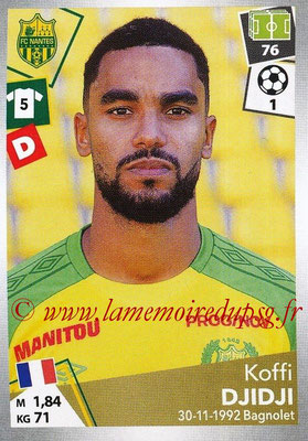 2017-18 - Panini Ligue 1 Stickers - N° 316 - Koffi DJIDJI (Nantes)