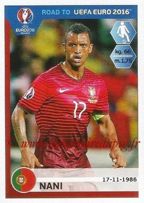 Panini Road to Euro 2016 Stickers - N° 236 - NANI (Portugal)