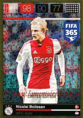 2015-16 - Panini Adrenalyn XL FIFA 365 - N° LE-NB - Nicolai BOILESEN (AFC Ajax) (Limited Edition)