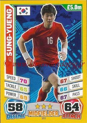 Topps Match Attax England 2014 - N° 203 - Ki SUNG-YUENG (Corée)