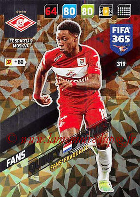 2017-18 - Panini FIFA 365 Cards - N° 319 - Quincy PROMES (Spartak Moscou) (Fans' Favourite)