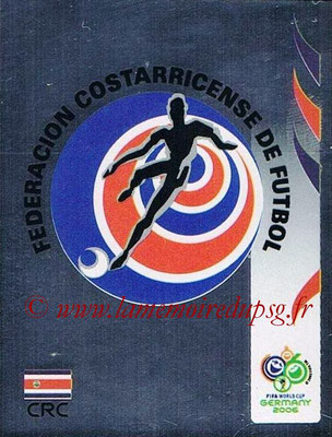 2006 - Panini FIFA World Cup Germany Stickers - N° 037 - Ecusson Costa Rica