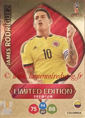 2018 - Panini FIFA World Cup Russia Adrenalyn XL - N° LE-JR - James RODRIGUEZ (Colombiel) (Limited Edition)