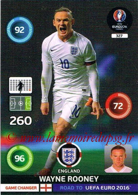 Panini Road to Euro 2016 Cards - N° 327 - Wayne ROONEY (Angleterre) (Game Changer)