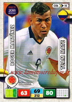 2018 - Panini Road to FIFA World Cup Russia Adrenalyn XL - N° COL15 - Roger MARTINEZ (Colombie)