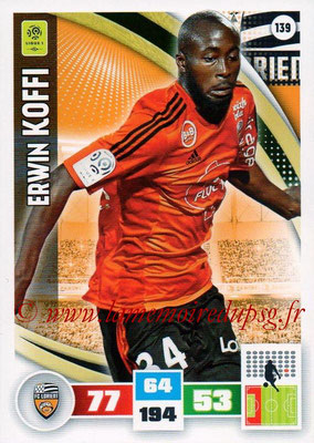 2016-17 - Panini Adrenalyn XL Ligue 1 - N° 139 - Erwin KOFFI (Lorient)