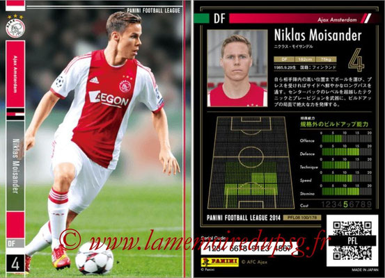 Panini Football League 2014 - PFL08 - N° 100 - Niklas MOISANDER (Ajax Amsterdam)