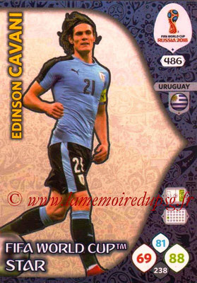 2018 - Panini FIFA World Cup Russia Adrenalyn XL - N° 486 - Edinson CAVANI (Uruguay) (FIFA World Cup Star) (Nordic Edition)