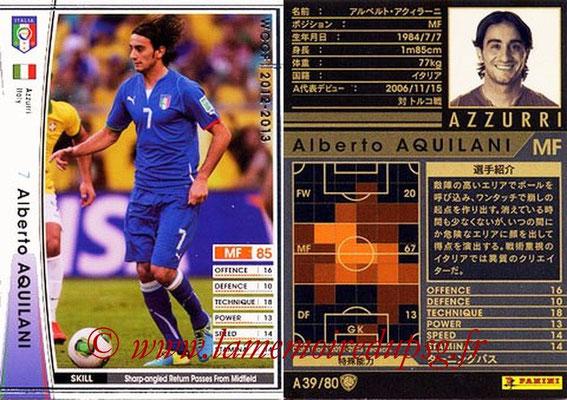 2012-13 - WCCF - N° A39 - Alberto AQUILANI (Italie)