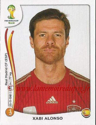 2014 - Panini FIFA World Cup Brazil Stickers - N° 116 - Xabi ALONSO (Espagne)