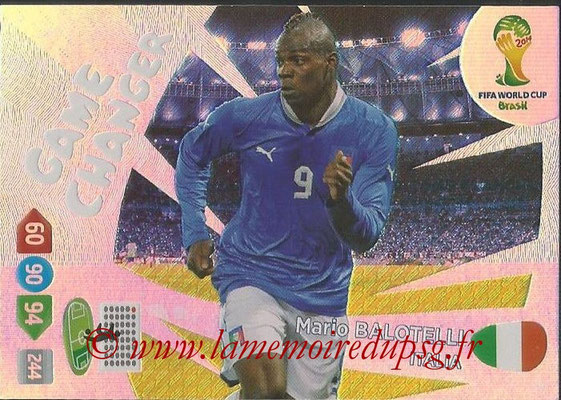 2014 - Panini FIFA World Cup Brazil Adrenalyn XL - N° 400 - Mario BALOTELLI (Italie) (Game Changer)