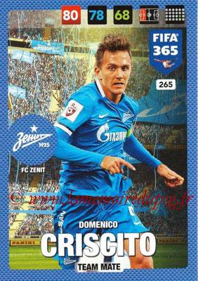 2016-17 - Panini Adrenalyn XL FIFA 365 - N° 265 - Domenico CRISCITO (FC Zenit)
