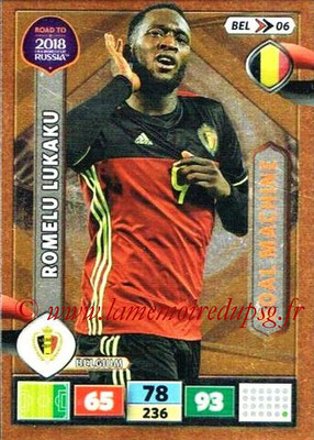 2018 - Panini Road to FIFA World Cup Russia Adrenalyn XL - N° BEL06 - Romelu LUKAKU (Belgique) (Goal Machine)