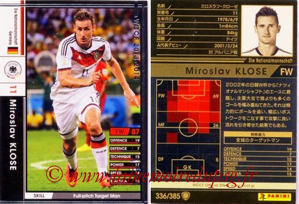 2013-14 - WCCF - N° 336 - Miroslav KLOSE (Allemagne)