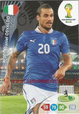 2014 - Panini FIFA World Cup Brazil Adrenalyn XL - N° 221 - Pablo Daniel OSVALDO (Italie)