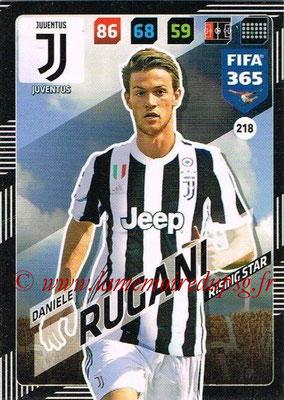 2017-18 - Panini FIFA 365 Cards - N° 218 - Daniele RUGANI (Juventus)
