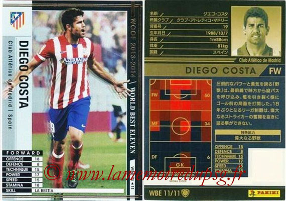 2013-14 - WCCF - N° WBE11 - Diego COSTA (Atletico Madrid) (World Best Eleven)