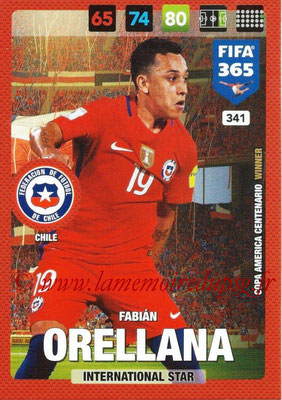 2016-17 - Panini Adrenalyn XL FIFA 365 - N° 341 - Fabian ORELLANA (Chili) (International Star)