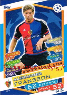 2016-17 - Topps UEFA Champions League Match Attax - N° N5 - Alexander FRANSSO (FC Bale) (Scandinavian Star) (Nordic Edition)