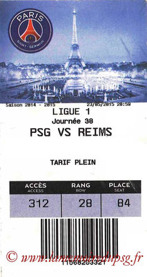 Tickets  PSG-Reims  2014-15