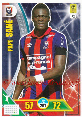2017-18 - Panini Adrenalyn XL Ligue 1 - N° 072 - Pape SANE (Caen)